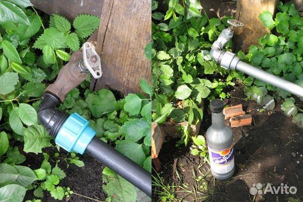 Водопровод для сада своими руками