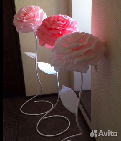 Ростовые цветы из гофробумаги