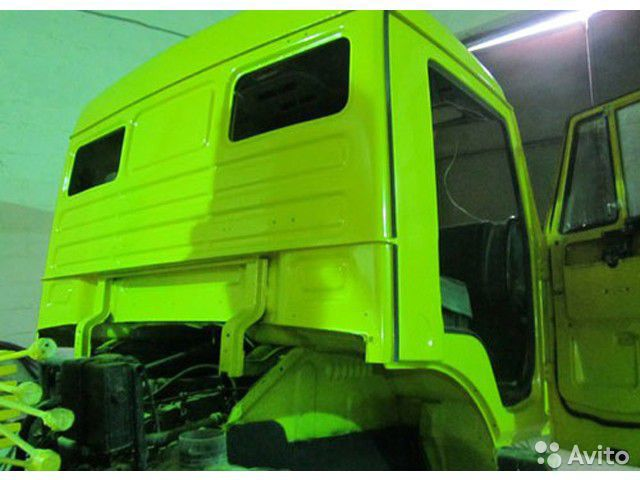 Как покрасить кабину грузовика