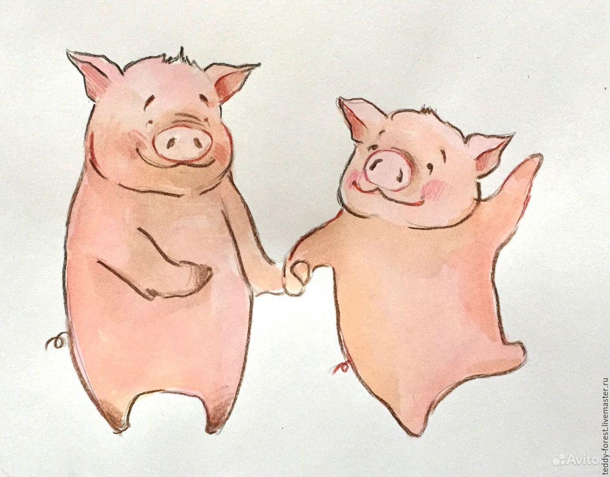 Поздравление ветеранам, рисунки свиньи прикольные
