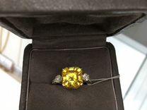 Кольцо золотое с цитрином и бриллиантами