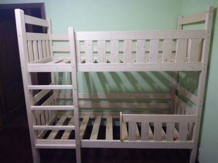 Двухъярусная кровать манеж детская (новая)