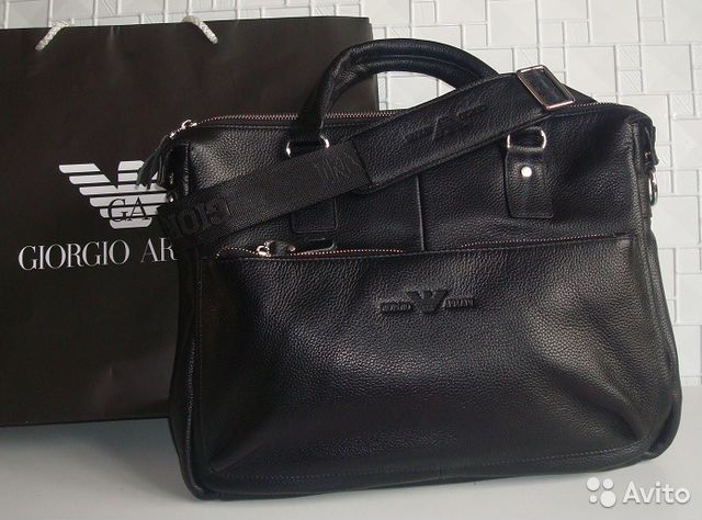 655b2c8fea37 Мужская сумка Armani A4 из кожи новая деловая | Festima.Ru ...