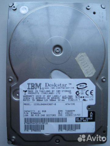 Жесткий диск IBM Deskstar IC35L040aver07-0 41GB
