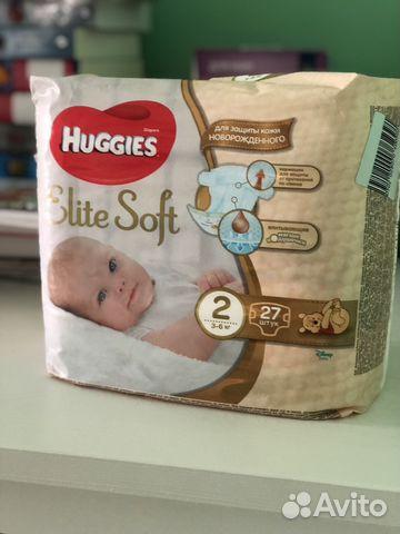 Подгузники Huggies Elite Soft 2   Festima.Ru - Мониторинг объявлений a55b70357d6