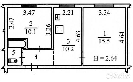 Продается двухкомнатная квартира за 2 900 000 рублей. Ямало-Ненецкий автономный округ, Салехард, улица Артеева, 24.
