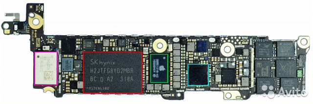 iphone 5s замена nand flash