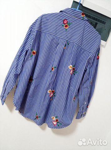 Женская рубашка новая H&M с вышивкой 89062124872 купить 3