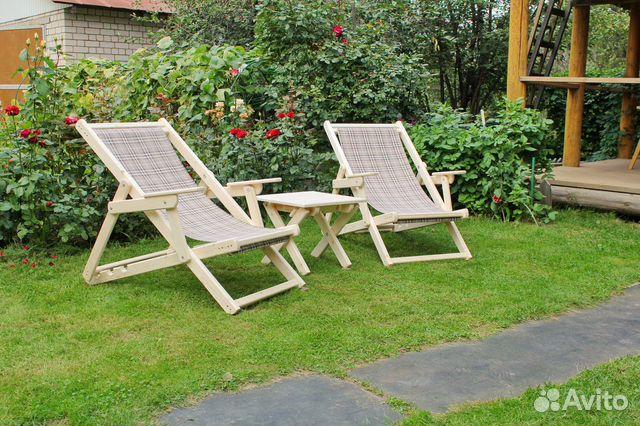 Deck chairs folding wood