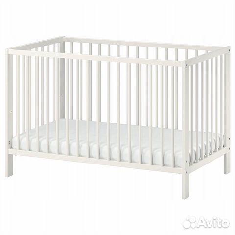 кроватка детская деревянная белая размер 12060 купить в