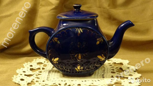 Чайник гжель СССР 89630945755 купить 1