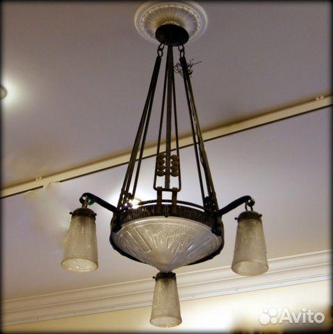 Старинные люстры, лампы арт-деко и антикварные
