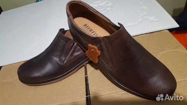 Кожаная обувь 45 размер (туфли)  89275064422 купить 1