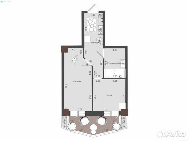 1-к квартира, 34 м², 24/25 эт. купить 2