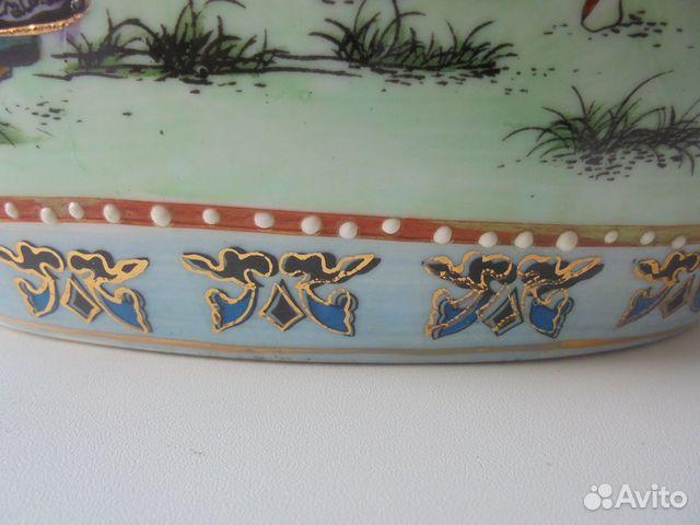 Ваза Китай костяной фарфор роспись позолота  89105009779 купить 7