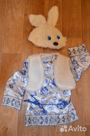Новогодний костюм Зайчик, рост 104  89114248555 купить 1