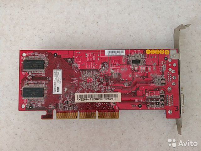 Видеокарта Nvidia fx-5200