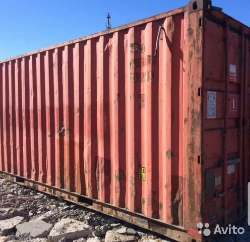 Металлический контейнер 20 футов. В фото по запрос  купить 1