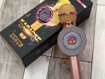 Караоке микрофон bluetooth WS-668 розовый