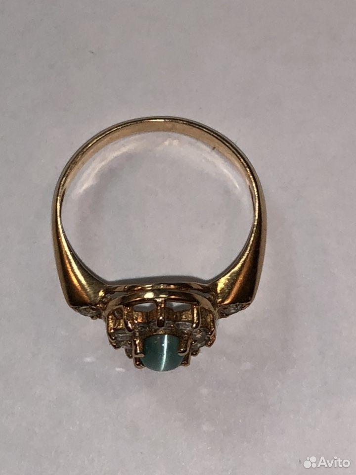 Золотое кольцо 585 с кабашоном и фианитами  89817050993 купить 6
