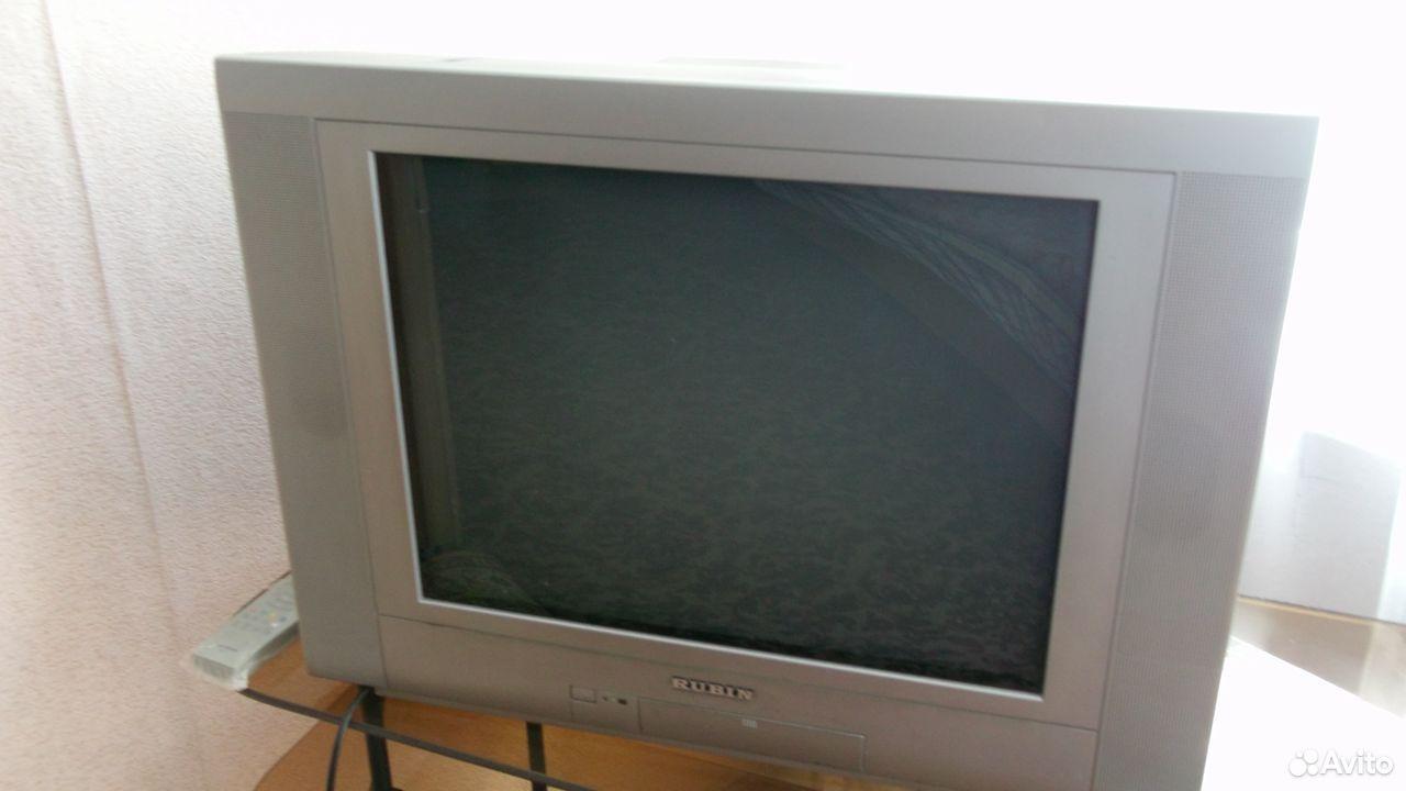 Цветной плоский телевизор рубин,диагональ 54см