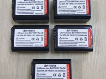 "Комплект: 5 аккумуляторов Sony NP-FW50 ""batmax"""