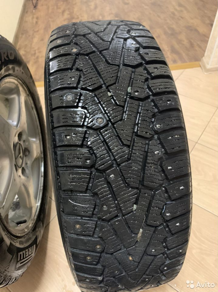 Диски + 2 резины(шипы) R16 Mercedes Benz  89231102244 купить 4