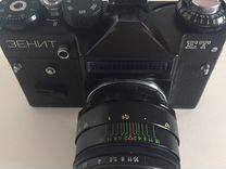 Фотоаппарат зенит ет + фотовспышка