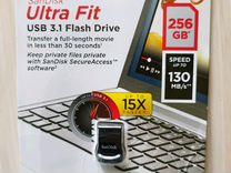 Новая Флешка SanDisk Ultra Fit 3.1 3.0 256gb 64gb