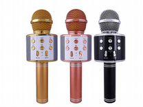 Микрофон-колонка беспроводная с Караоке гарантия