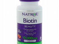 Natrol, Биотин, 10000 мкг, 60 таблеток