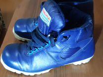 Лыжные ботинки кожа 38 размер