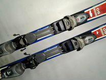 Горные лыжи 160 см с ботинками 40 разм