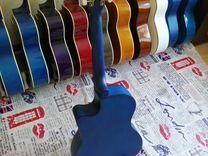 Синяя гитара новая с коробкой