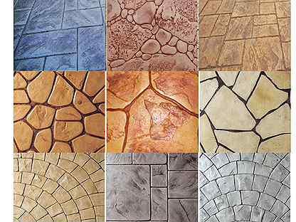 Штампы для печатного бетона в леруа мерлен купить краска для бетона для наружных работ купить в спб